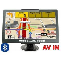 GPS НАВИГАЦИИОННА СИСТЕМА ЗА КАМИОН WEST ROAD WR-X256S BT AV IN FM EU, BLUETOOTH, 800MHZ, 256MB RAM